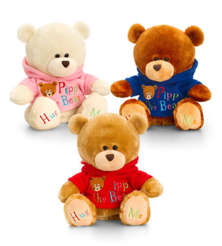 Keel Toys Pipp The Bear mit Hoody